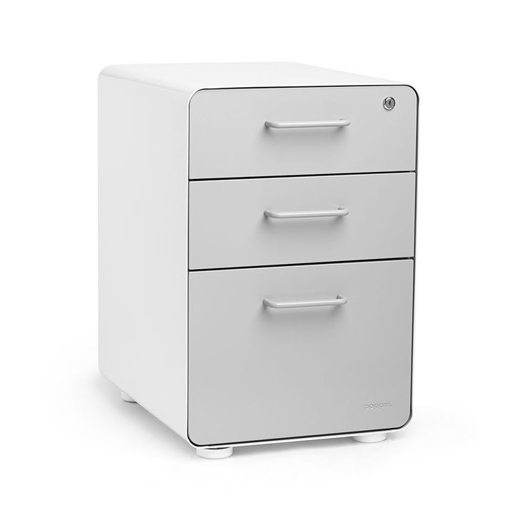 White + Light Gray Stow 3 Drawer File Cabinet $229 Details Http://