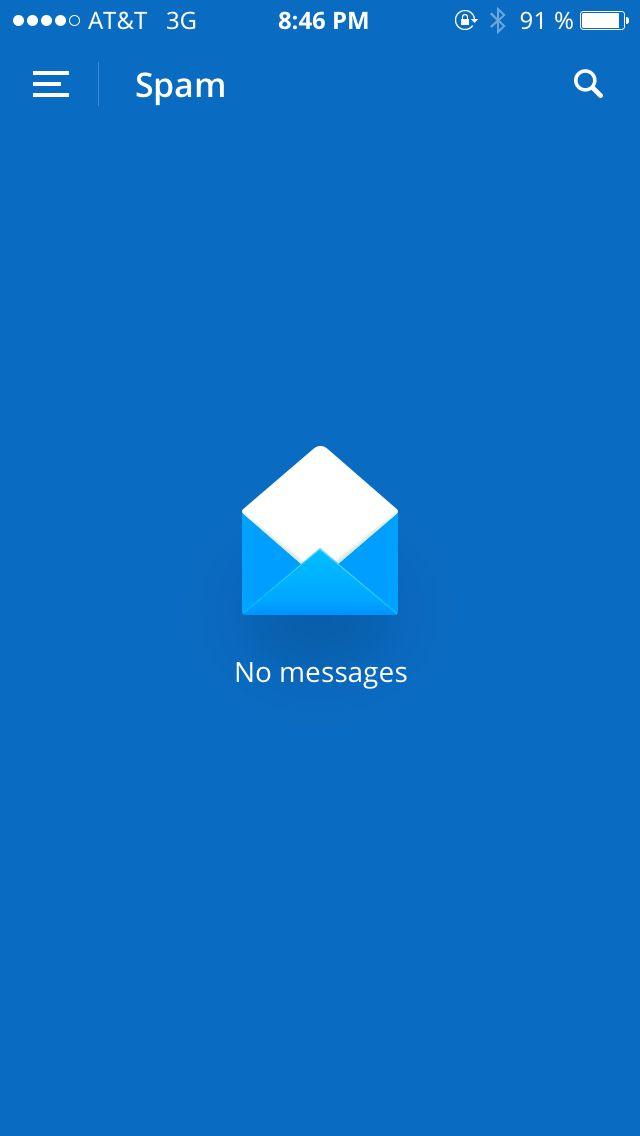 "Spark.app ""no messages"" placeholder"