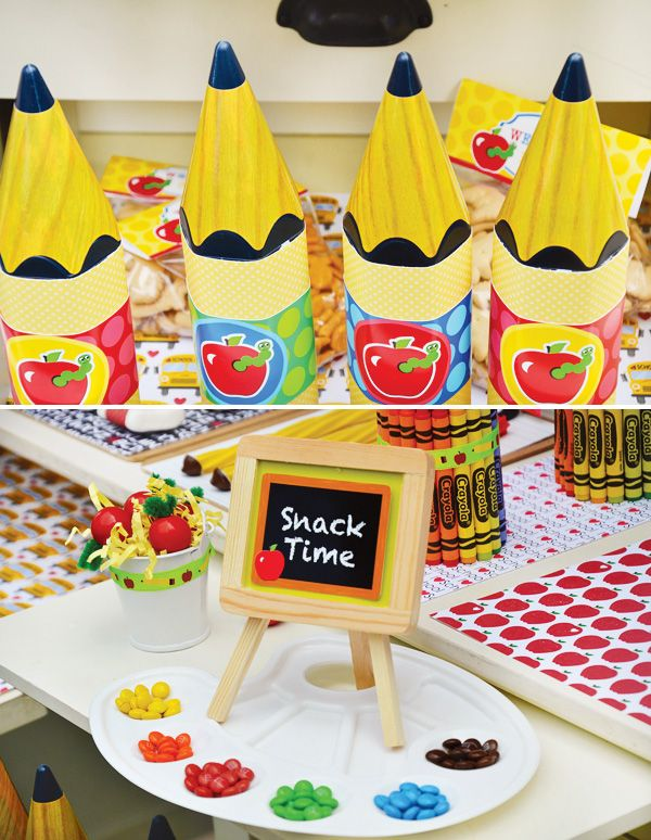 Back to school party ideas free printables hostess for Back to school party decoration ideas