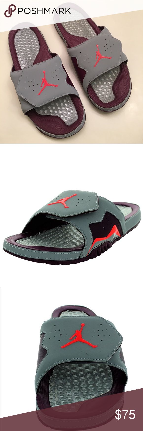 Jordan Hydro Vll Retro Sandal Slippers Inspired by the Air Jordan VII, the Jordan Hydro VII Retro is the perfect recovery slide..synthetic Rubber sole Adjustable fit Massaging footbed Hook-and-loop fastener for a personalized fit Jordan Shoes Sandals & Flip-Flops