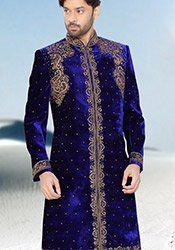 Blue Velvet Sherwani