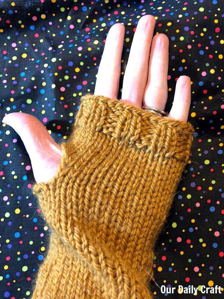 simple fingerless gloves knitting sample » Baby Knitting ...