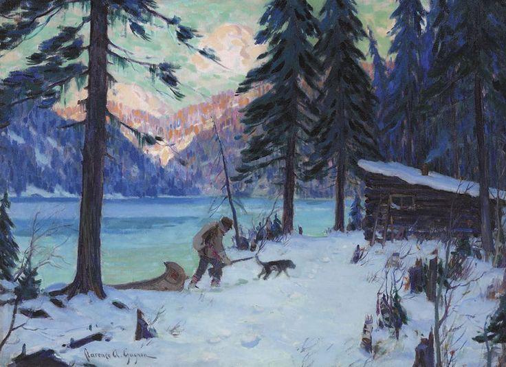« Le retour du trappeur », Clarence Gagnon, 1909