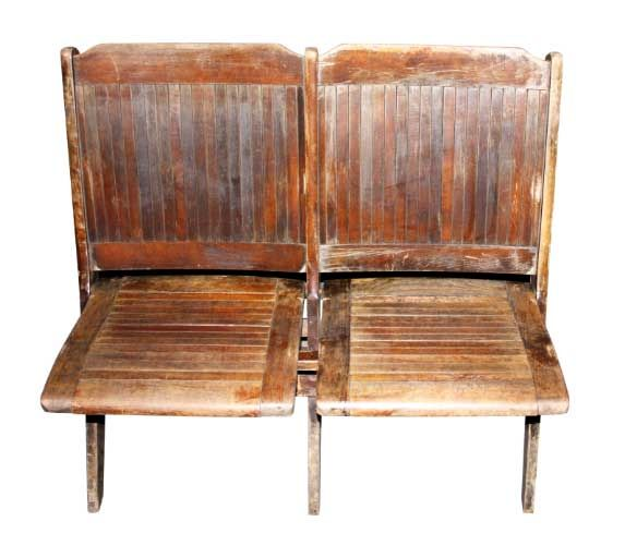Vintage Folding Stadium Chairs