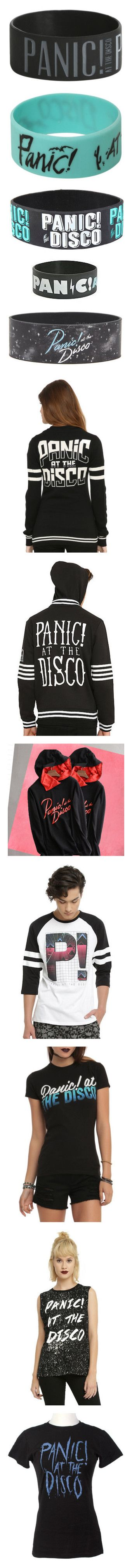 """Panic! At The Disco"" by itsstacyguys ❤ liked on Polyvore featuring jewelry, bracelets, accessories, rubber bracelets, bands, rubber bangles, rubber jewelry, disco jewelry, panic at the disco and wristbands"