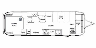 2011 Airstream Classic Limited Series M-31 Floorplan, Prices, Values & Specs - NADAguides