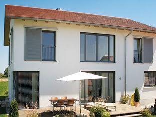 Schönheit & Stabilität gelungen kombiniert mit Holz/Aluminium-Fenster!