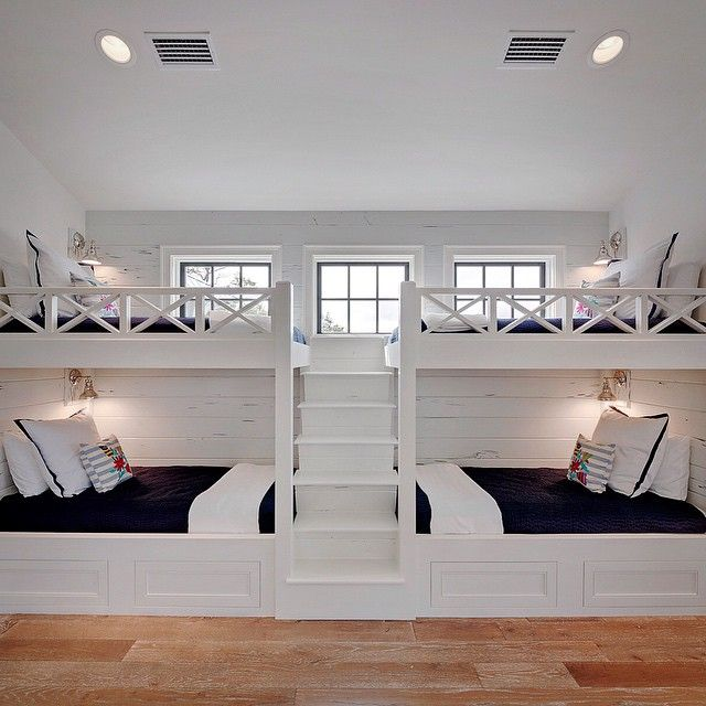 Top 25 best bunk beds with stairs ideas on pinterest 4 beds in one room