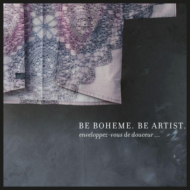 Kimono Bohème   Modèle Mélie    Madame Bohème  Motif Gypsie Imprimé all over Matière noble légère et très douce en voile coton-soie