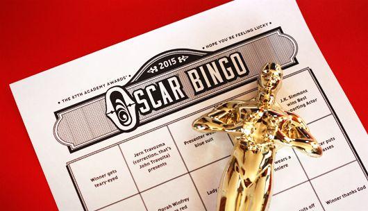 Free Oscar bingo game 2015 #oscars #oscarparty