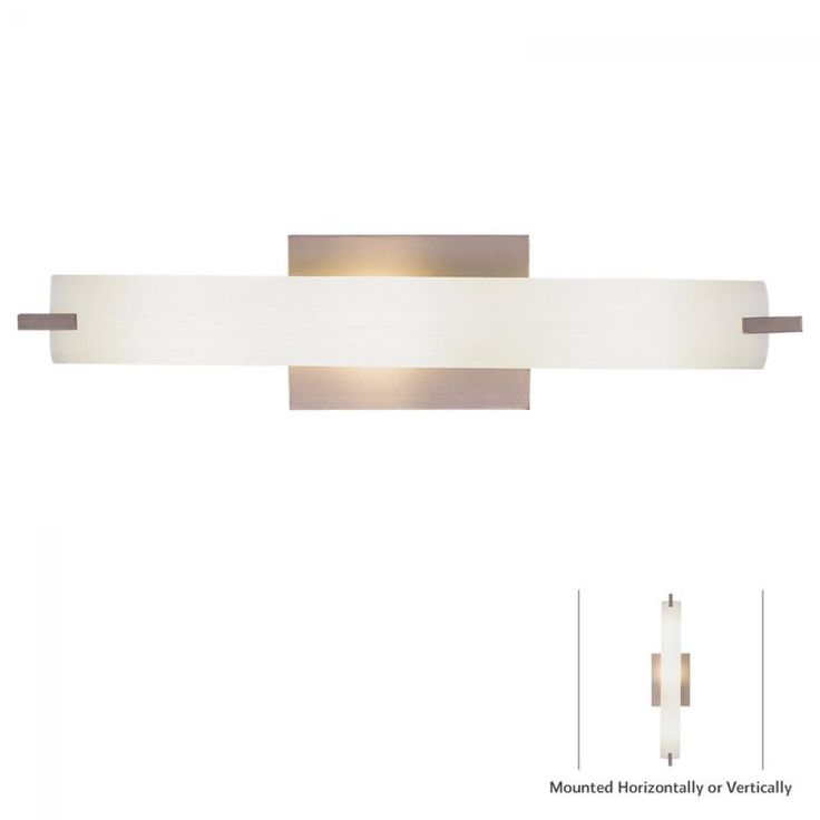 Brushed Nickel Etched Opal Glass Wall Light : P5044-084-L | Lights Fantastic
