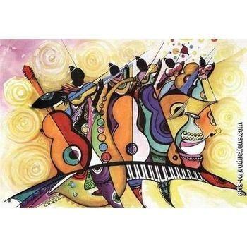 peinture tableau abstrait lymusic39 - Tableaux Abstraits Colors
