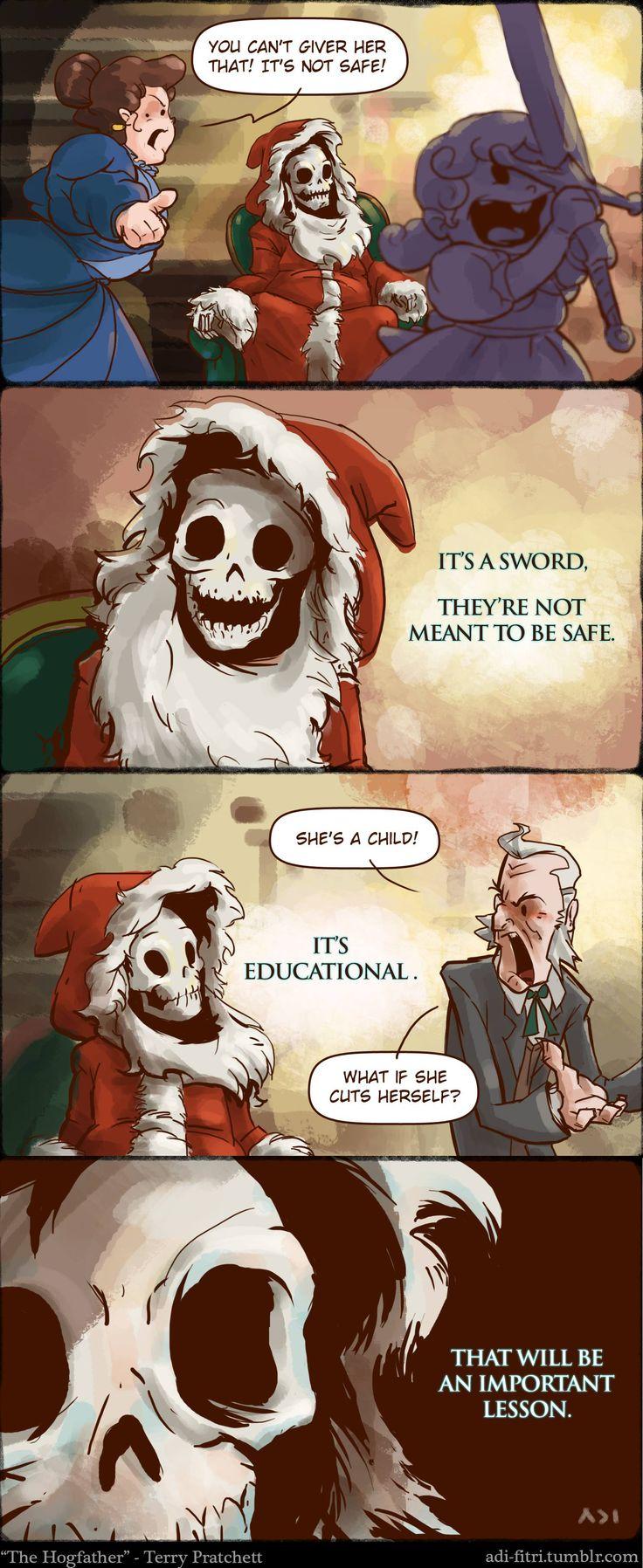 Skeleton Santa Claus.