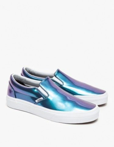 patent leather vans slip ons