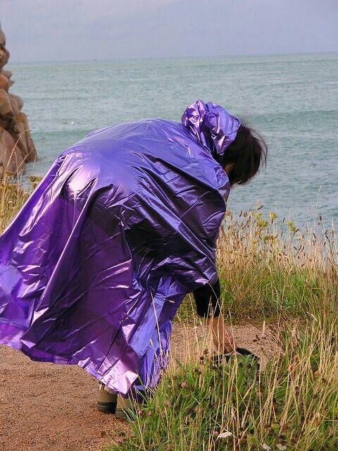 Purple pvc cape