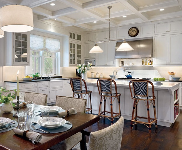 images white kitchen cabinets box beamed ceiling is always a winner kitchen obsession 4646