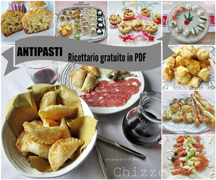 Antipasti ricettario pdf che si può scaricare gratuitamente dal blog ...Antipasti a crudo e al forno ricette veloci buonissime antipasti ricettario