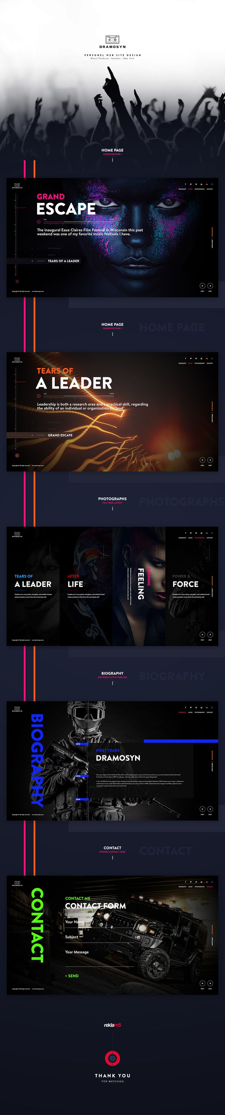 Dramosyn - New Web Site Design on Behance
