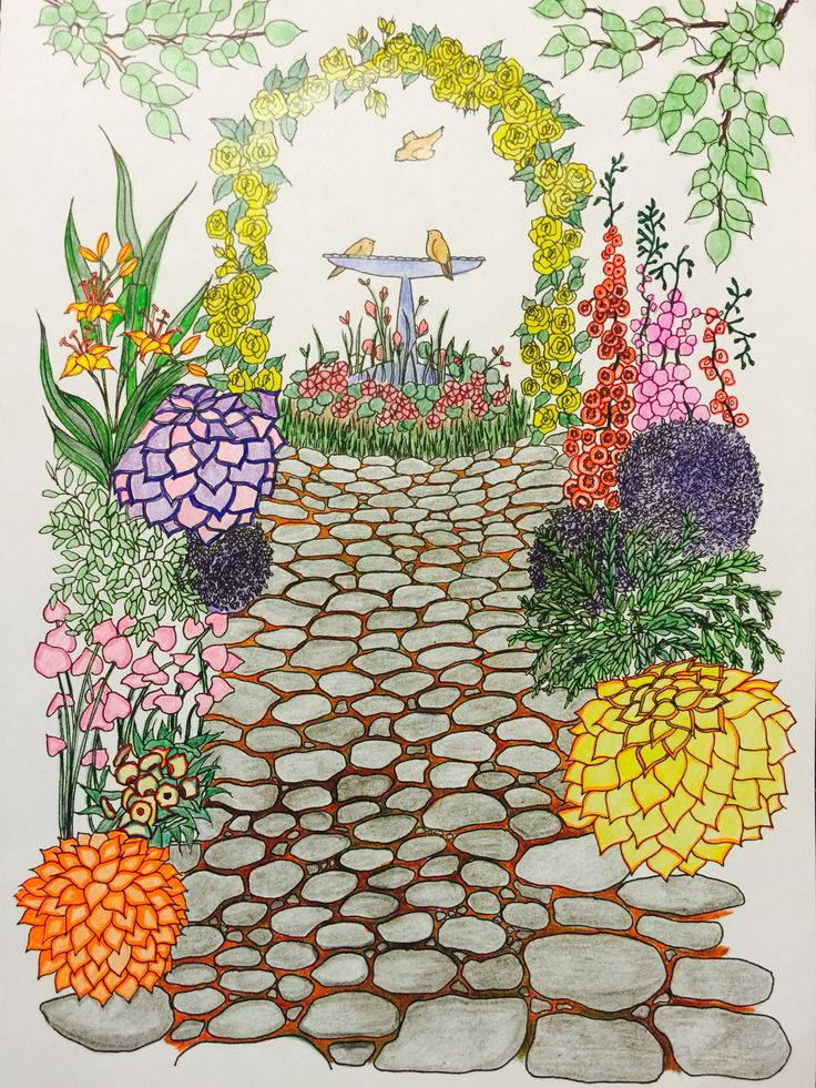 Images About Whimsical Gardens Coloring Book On