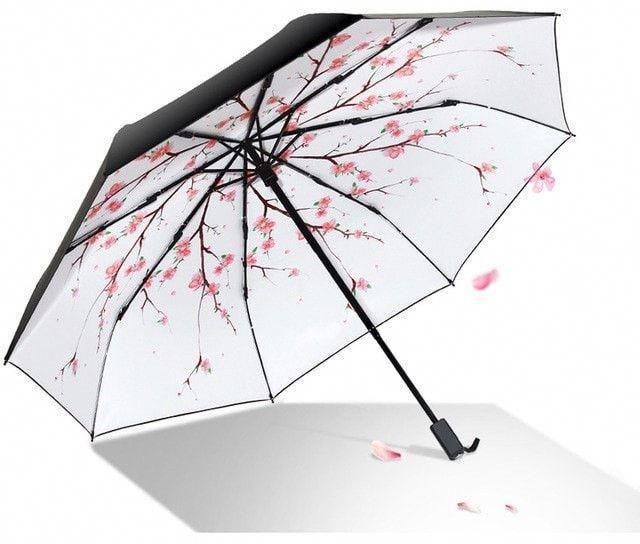 Color : Pink TLMY Sunscreen Black Umbrella Folding Umbrella Women UV Sun Umbrellas Umbrella