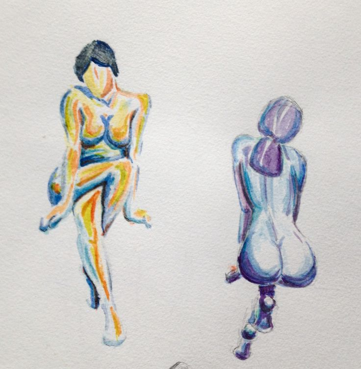 Electric ladies Watercolor