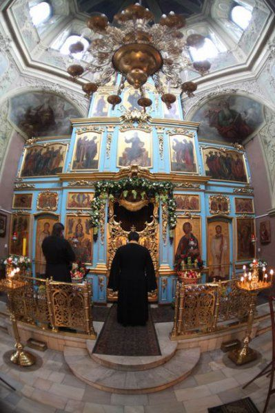 In the church of the Theotokos of the Life-Giving Spring. Moscow. Tsaritsyno.