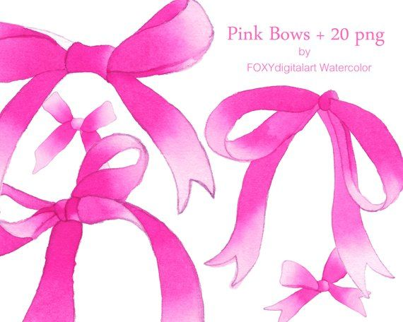 Commercial License Pink Bow Digital Clipart Pink Ribbon Frame Clipart Ribbon Clipart Border and Frame Baby Shower Invitations