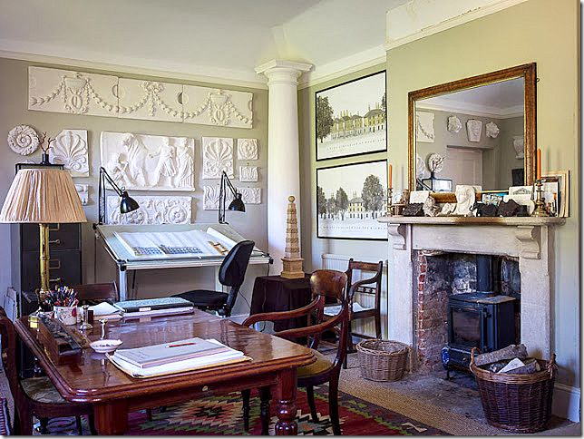 Ben Pentreath's Old Parsonage: drafting table