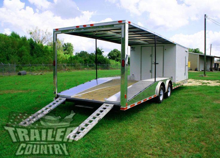 NEW 8.5 X 30 ENCLOSED + OPEN DECK CAR TOY HAULER TRAILER 10K AXLES #trailer #axles #hauler #deck #open #enclosed