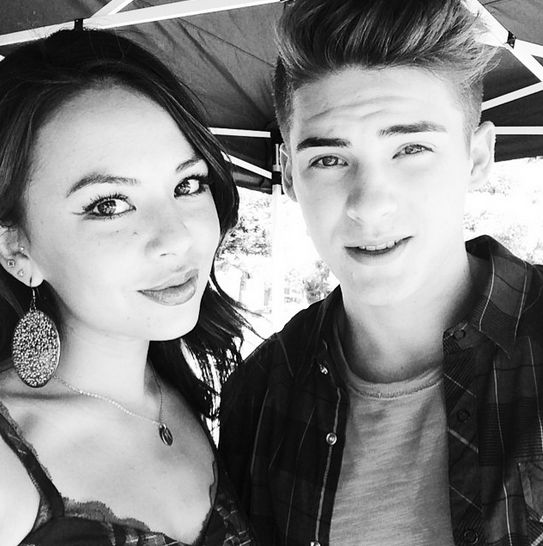Janel Parrish and Cody Christian Allen
