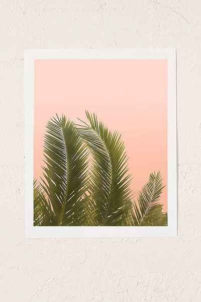 Wilder California Golden Palm Tree Art Print Urban