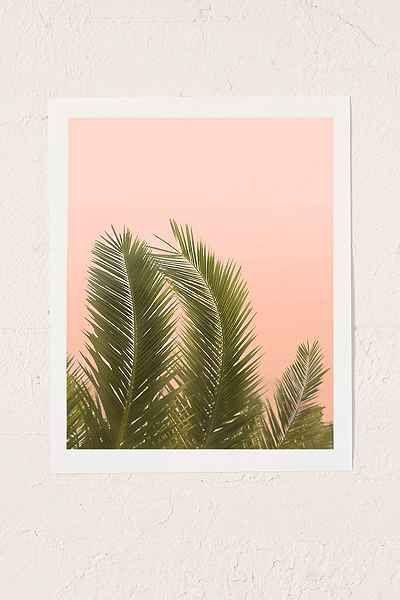 Wilder California Golden Palm Tree Art Print  Urban