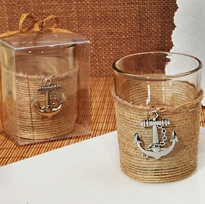 Unique Rustic Nautical Candle Holder   Nautical #anchor accent candles