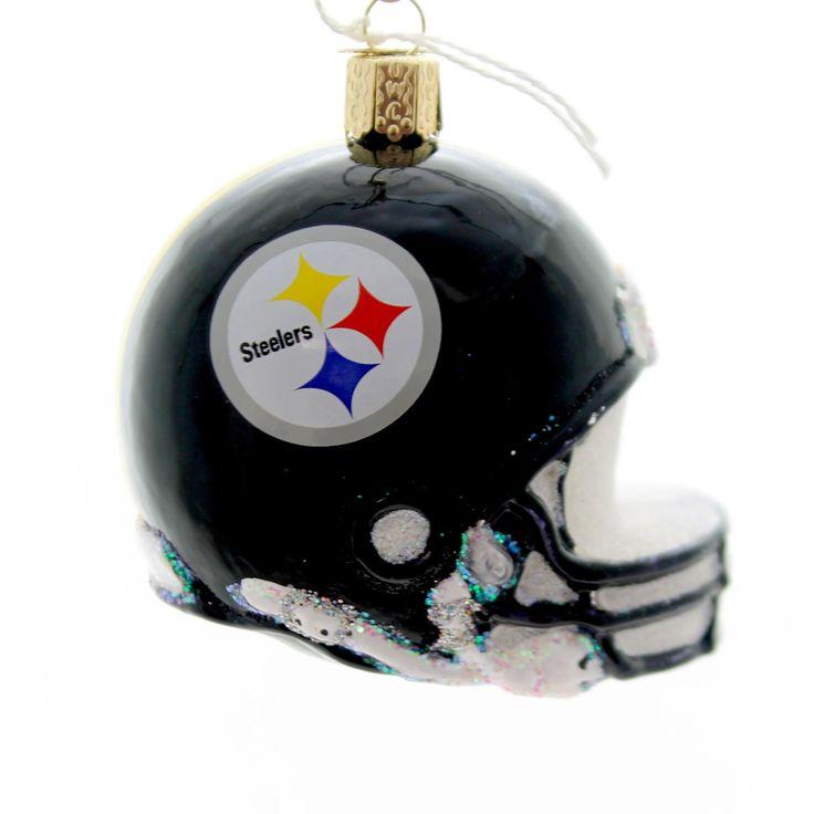Old World Christmas Pittsburgh Steelers Helmet Glass Ornament