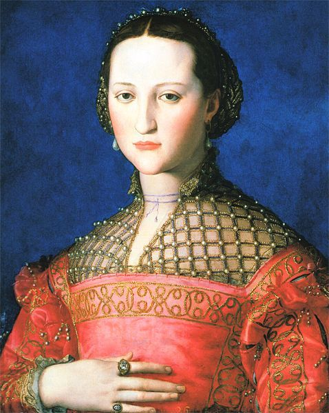 Portrait of Leanor Álvarez de Toledo, 1543, Italian, artist Agnolo di Cosimo (Bronzino 1503-1572), National Gallery in Prague http://www.ngprague.cz/en/
