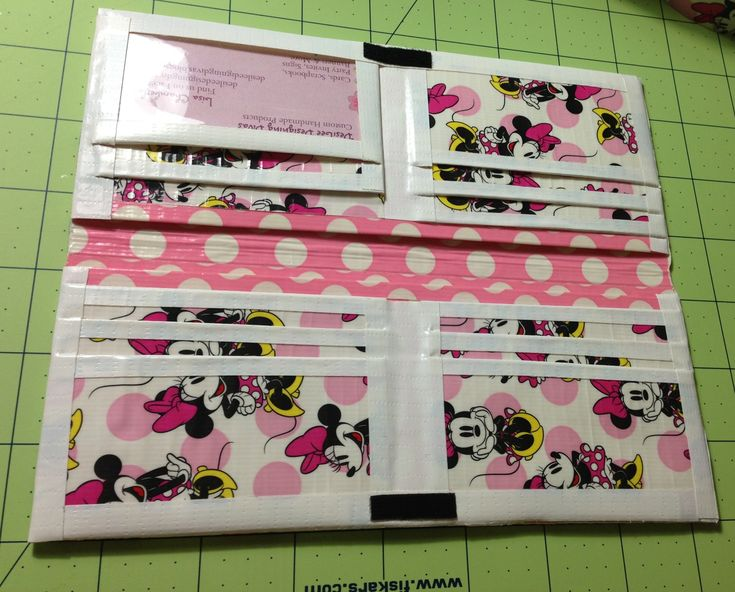 Minnie Mouse duck tape wallet
