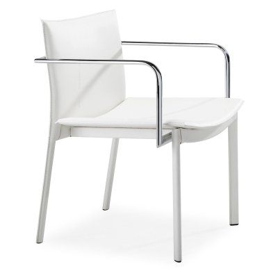 Zuo Modern Gekko Conference Chairs - Set of 2 White - ZMC1283-1