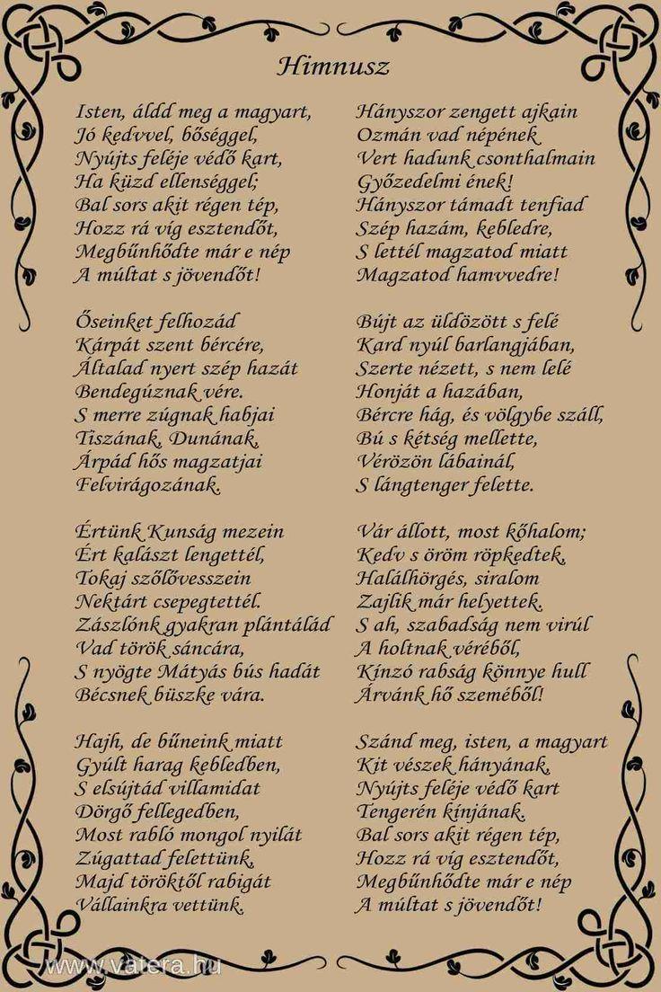 magyar himnusz szövege - Google keresés