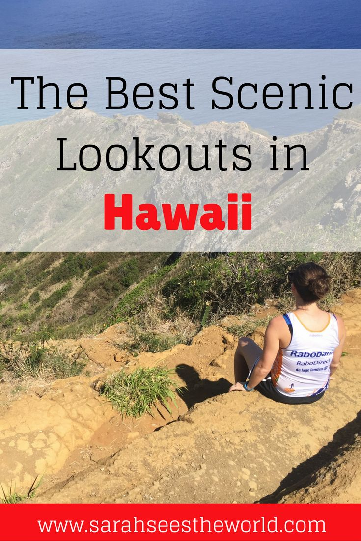 When you're in the beautiful state of Hawaii, how could you NOT want to soak in all of the incredible views? Check out some of my favorite scenic lookouts in Hawaii. You won't be disappointed! Don't forget to save this to your travel board.