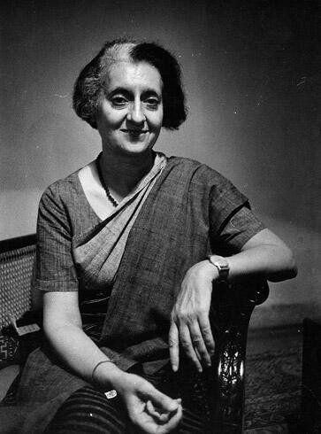 Ara Güler'in objektifinden Indira Gandhi;