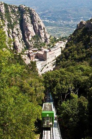 Barcelona Province,Montserrat Monastery,the Funicular  Catalonia