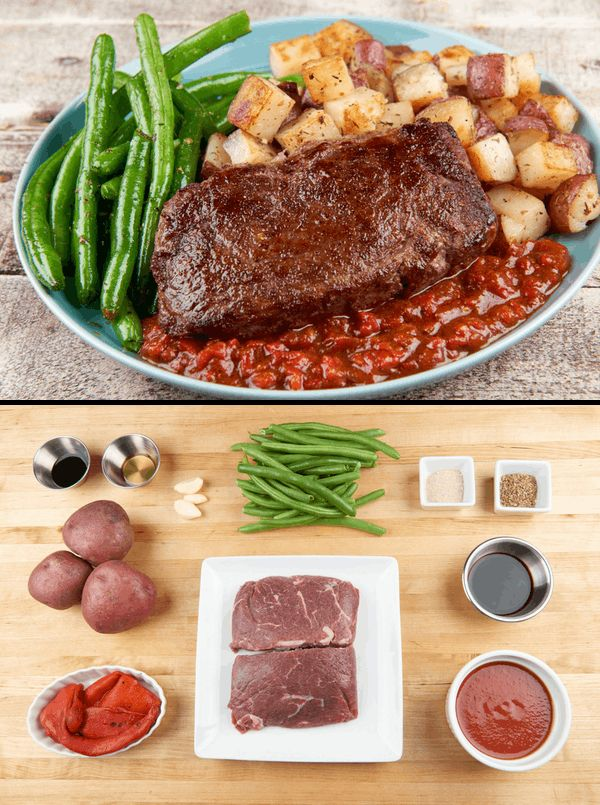 Do steak night right with our pan-seared sirloin and crispy red potatoes. On second thought, do steak night right-est by adding this tangy, rich red pepper steak sauce spiked with our house seasoning. What gives this sauce that certain _je nais se quoi_ is the marriage of tomatoes, roasted peppers, and Worcestershire sauce. Besides being the most mispronounced ingredient in the pantry, Worcestershire adds flavor that takes this sauce so over-the-top, pronunciation will be the last thing on…