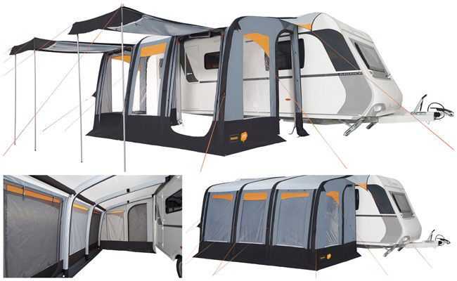 Trigano Luna Air 390 Inflatable Caravan Porch Awning
