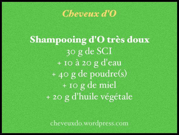 recette shampooing tres doux