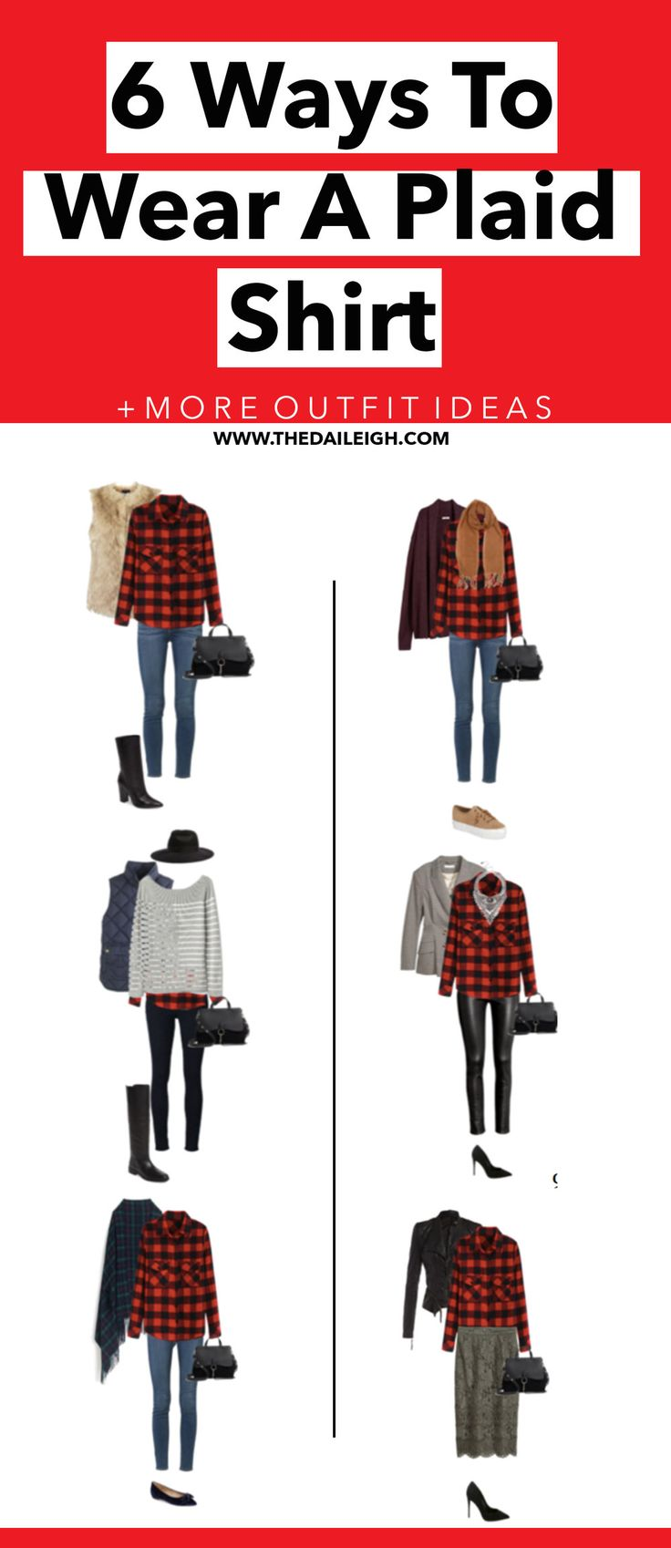 How To Style A Plaid Shirt | Plaid Shirt Outfit Ideas | How To Dress
