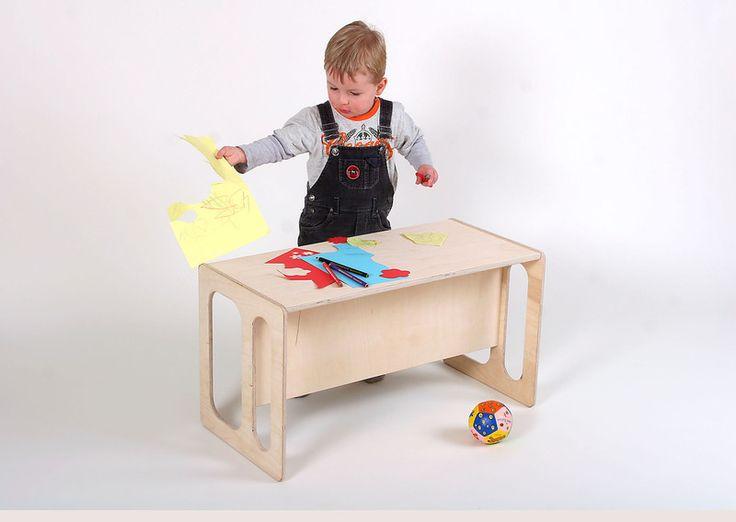 Stühle - Kindertisch  und Kinderbank TIM - ein Designerstück von Christians-Holzladen bei DaWanda
