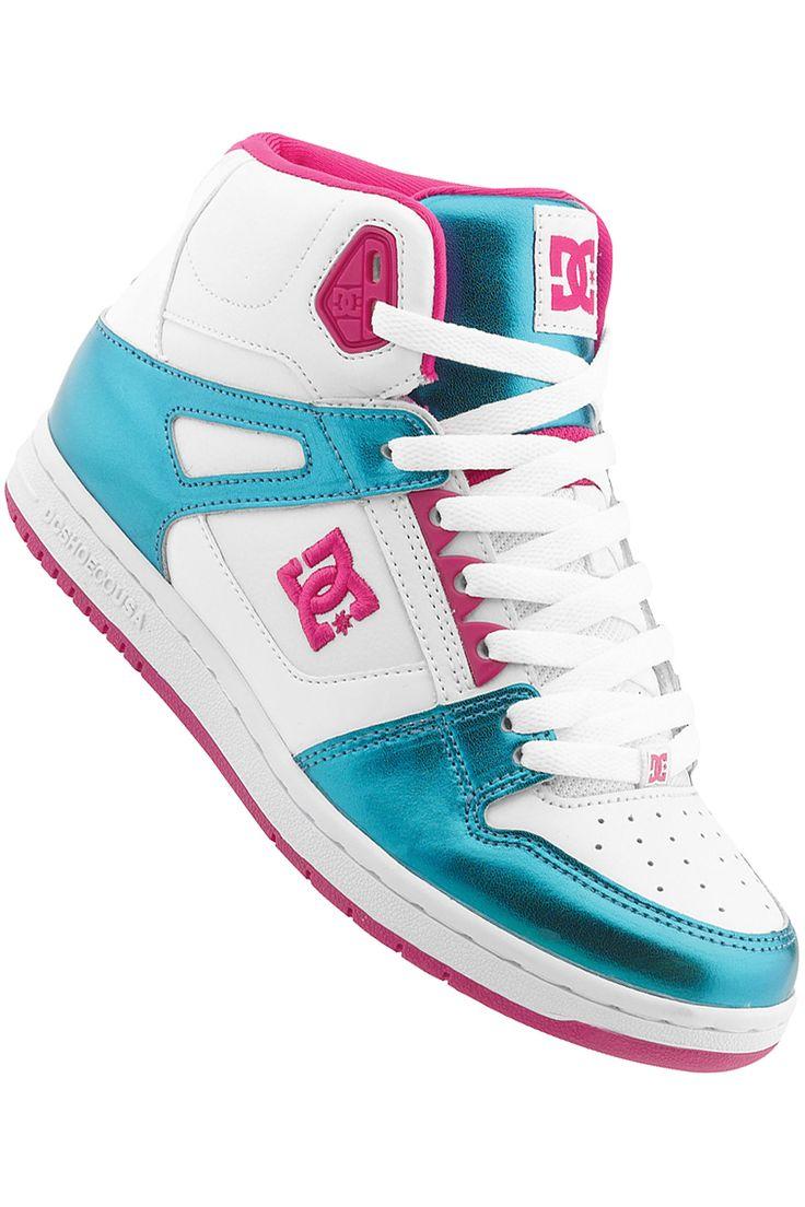 DC Shoes For Girls | DC Rebound Hi Shoe girls (white turquoise) buy at skatedeluxe