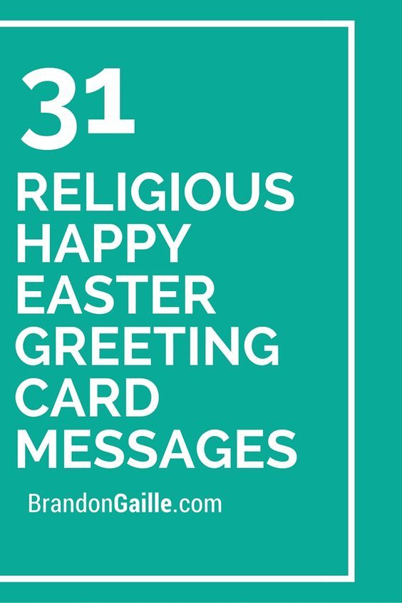 31 Religious Happy Easter Greeting Card Messages