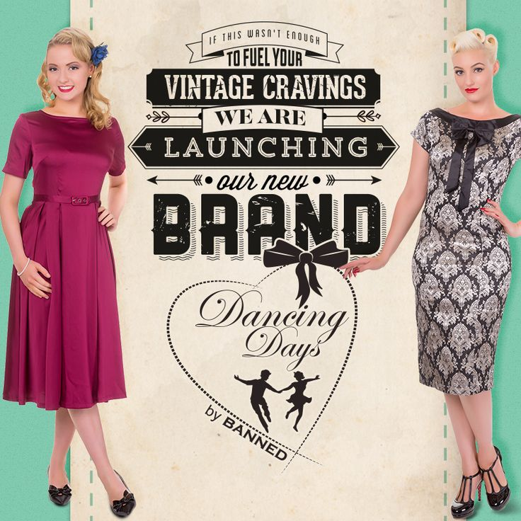 We are excited to unveil our new brand, 'Dancing Days'. A collection of ladies clothing, footwear and accessories inspired by the fabulous forties and feminine fifties. Brought to you by one of the leading vintage inspired brands BANNED. - Keep an eye on our social media and website for more. <3