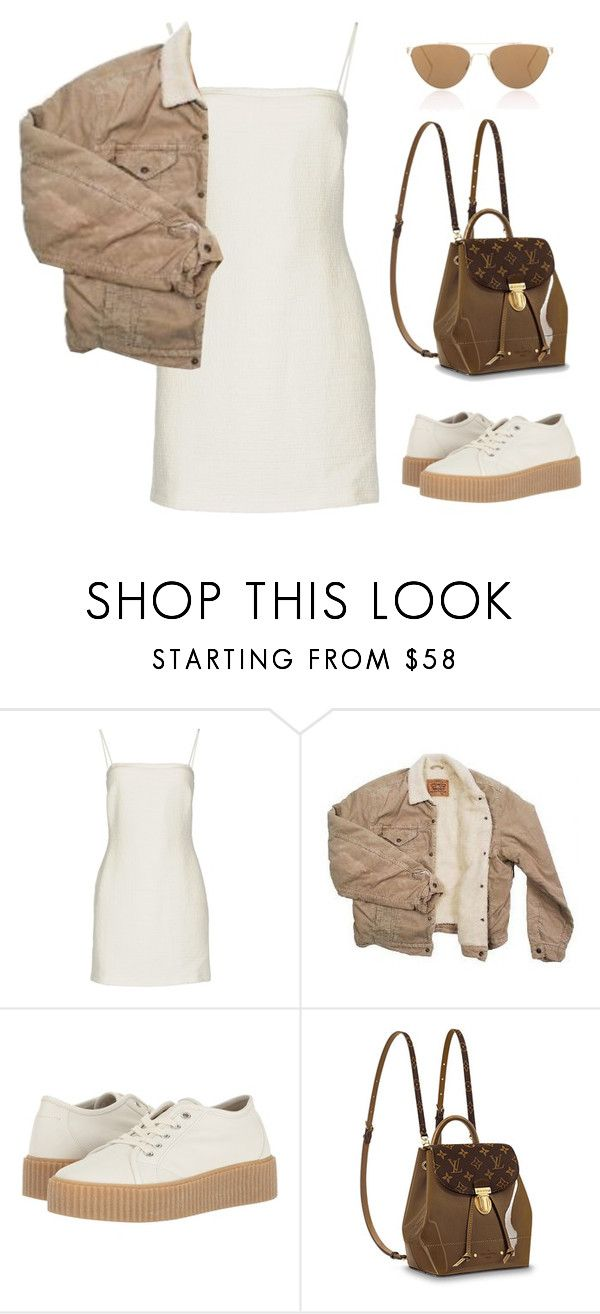"""""""Untitled #5949"""" by lilaclynn ❤ liked on Polyvore featuring Bec & Bridge, Levi's, MM6 Maison Margiela, Oliver Peoples, louisvuitton and MaisonMartinMargiela"""